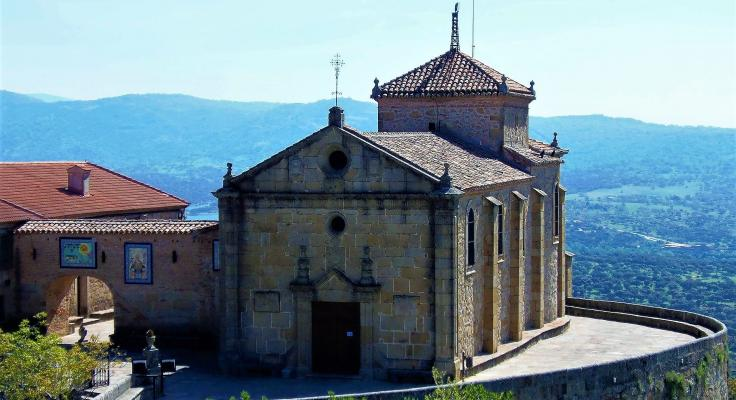 Vista del Valle del Jerte desde la Ermita Virgen del Puerto, en Plasencia